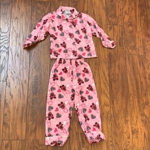Angel Face Pajamas - Girls Fuzzy Teddy Bear Pajama Set